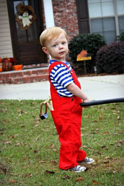 He is just TOO ADORABLE! | Dennis the Menace Halloween Costume Idea for Toddler Boy