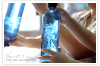 THIS is amazing for calming down fussy toddlers. | DIY Jellyfish Sensory Bottle Idea for Toddler