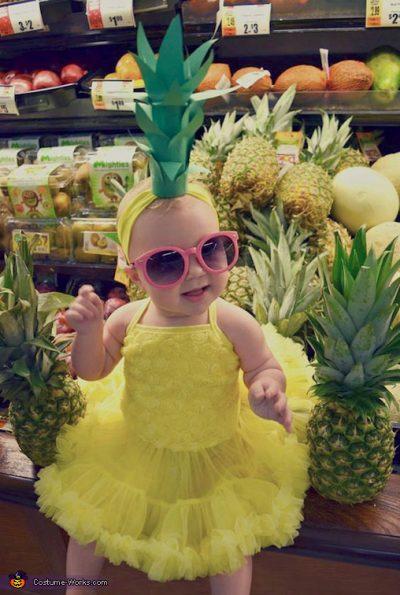 So CUTE!!! Pineapple Halloween Costume idea for toddler girl