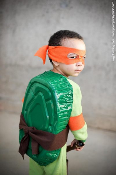 OMG this costume is SO CUTE! | DIY Teenage Mutant Ninja Turtle Halloween Costume for Boy Toddler