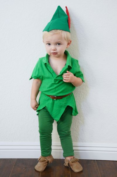 He's so adorable! OMG | DIY Peter Pan Halloween Costume Idea for Toddler Boy