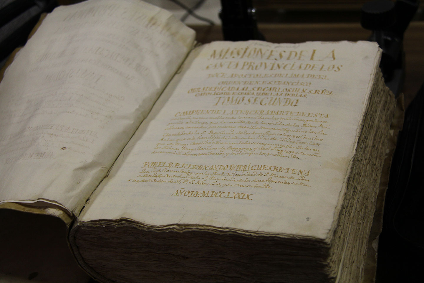 First pages of the register of Franciscan Missions (M41).