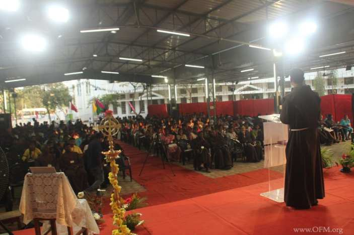 1.Br Praveen addresses the Youth
