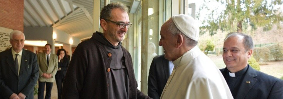 Pope Francis and Fr. Giulio Michelini