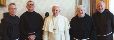 Pope Francis received the General Ministers of the Franciscans in the Vatican