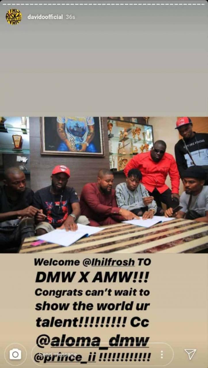 Davido signs Lil Frosh to DMW/AMW Record Label 2