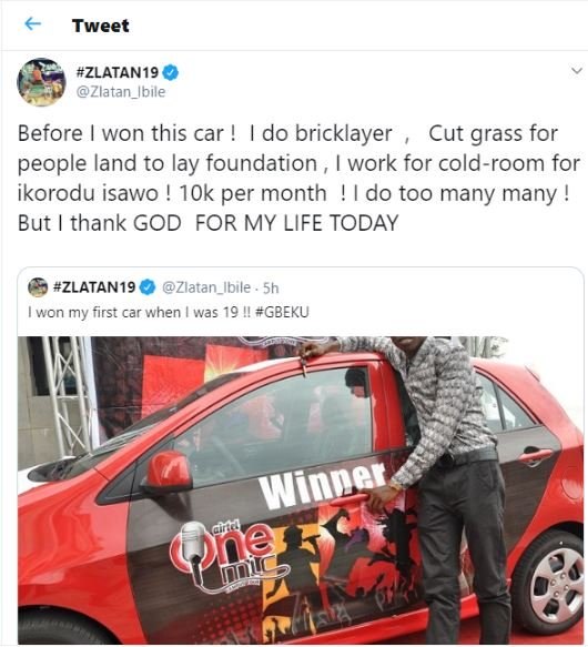 I Won My First Car When I Was 19, I Did Bricklayer – Zlatan Ibile 2