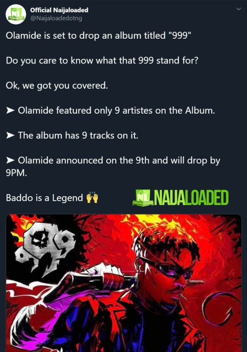 "Olamide New Album Titled ""999"" – Here's The Meaning Of The Title & All You Should Know 2"