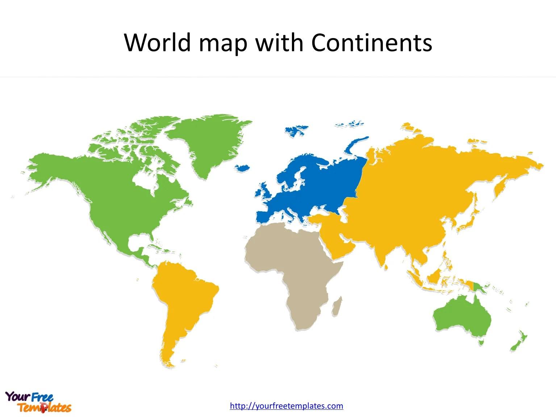 Blank World Maps Template