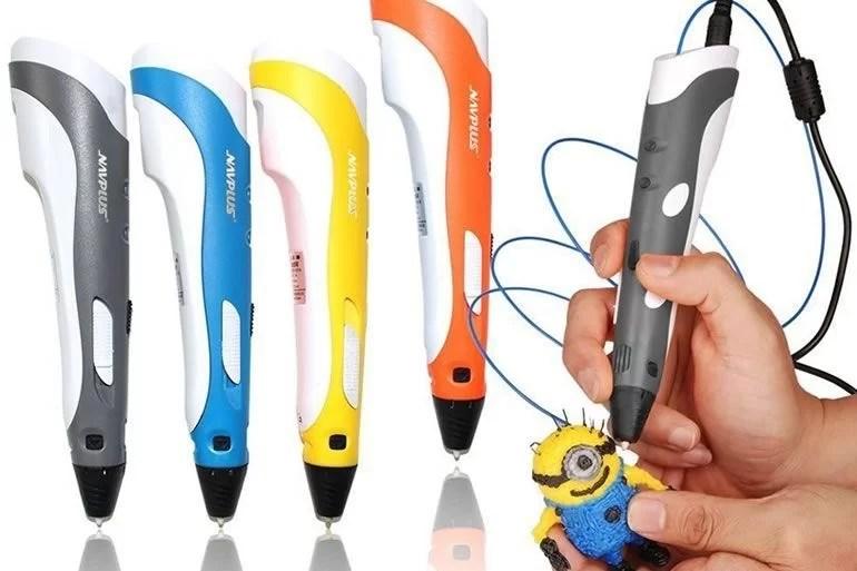 kit penna 3d con filo multicolor