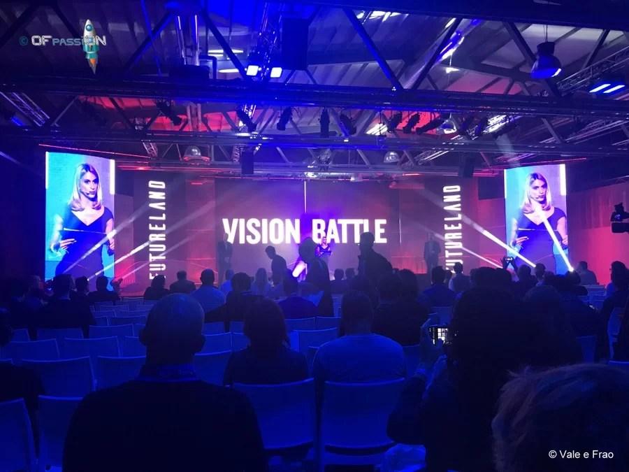 sul palco valeria cagnina ofpassion è speaker a Futureland Milano