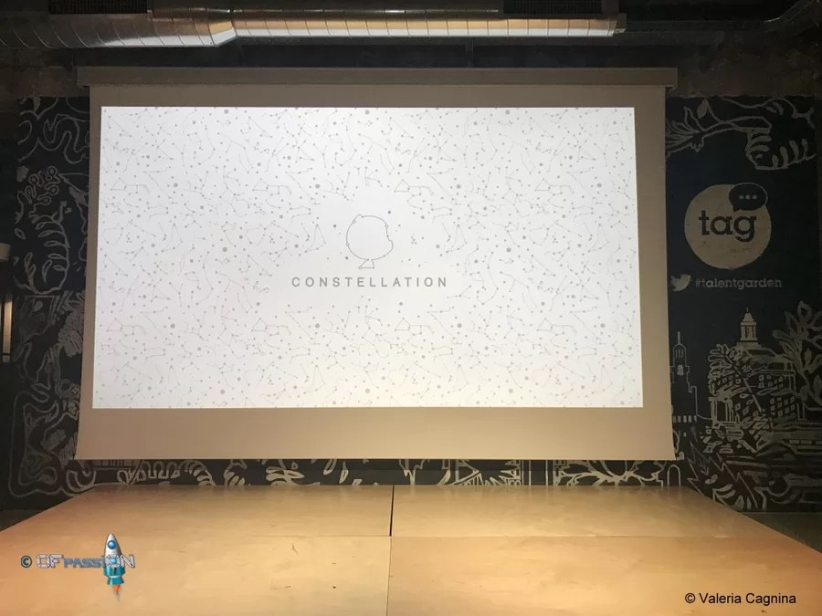 palco Github Constellation evento valeria cagnina come speaker