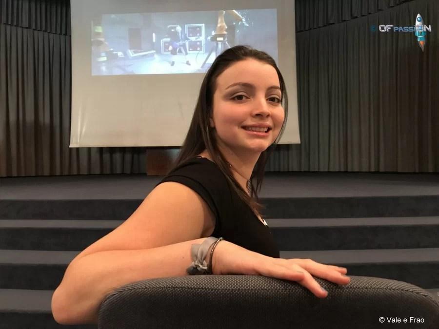 valeria cagnina in sala conferenza speaker alla conferenza a Lugano