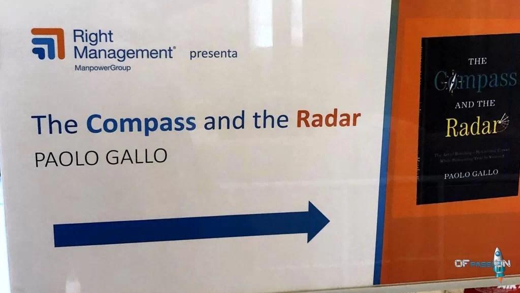valeria cagnina e francesco baldassarre presenti alla presentazione del libro di Paolo Gallo the compass and the radar
