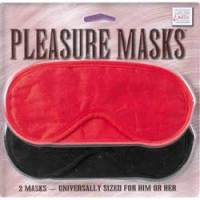 Black and Red Pleasure Masks from PinkCherry.Com