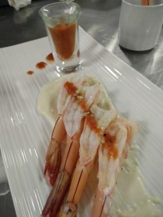 Shrimp Cocktail with Lime Tofu Mayo