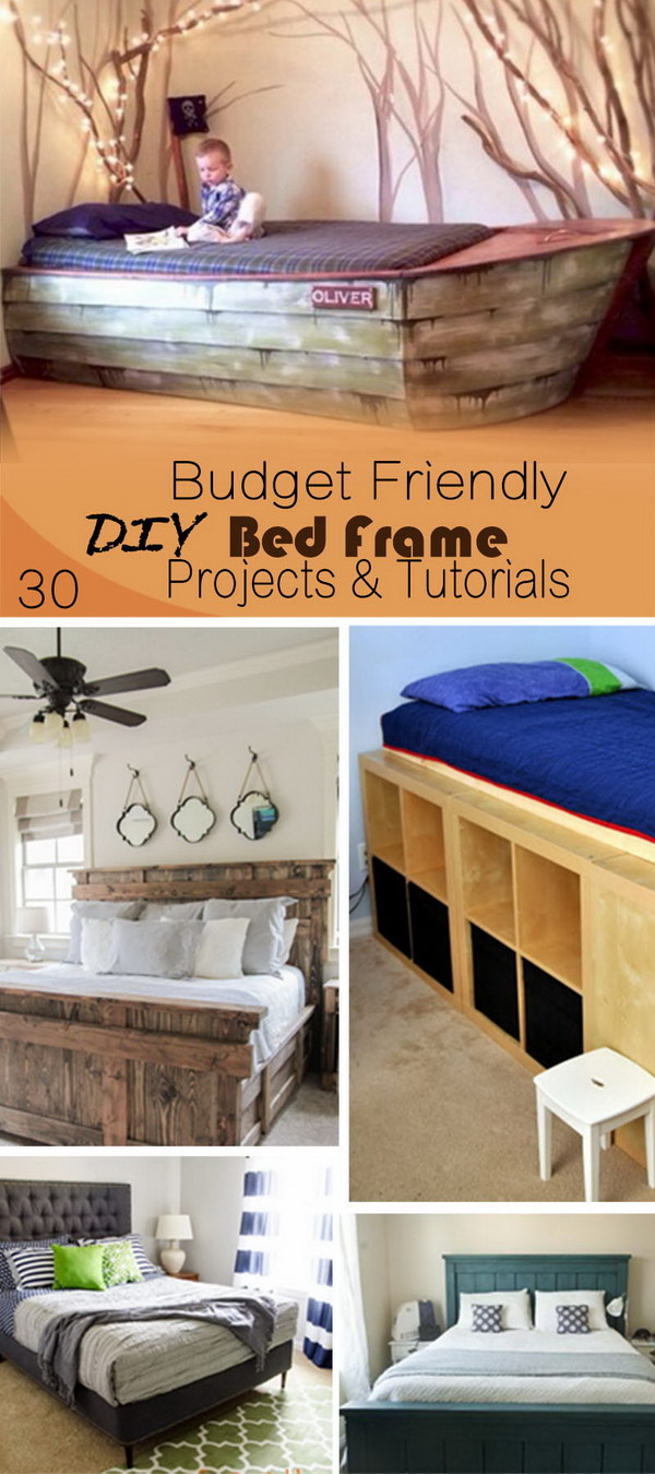 30 Budget Friendly DIY Bed Frame Projects  Tutorials
