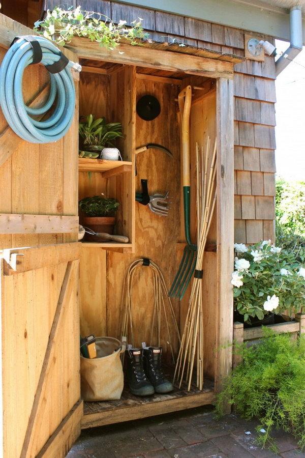 20 Budget Friendly Garden Storage Ideas 2017