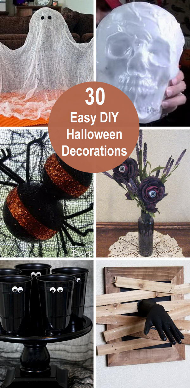 30 Easy Diy Halloween Decorations