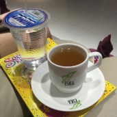 and of course, ginger tea with honey! yum!