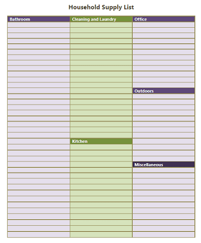 Simplify Shopping List Creation with a Household Supply List