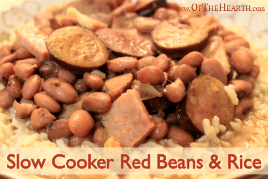 Slow Cooker Red Beans and Rice recipe | Conveniently prepared in a slow cooker, this recipe for Red Beans and Rice yields a flavorful, affordable dish that you will want to make again and again.