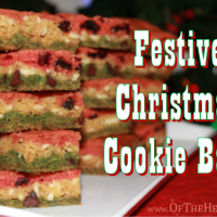 Festive Christmas Cookie Bars
