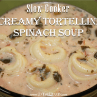 Slow Cooker Creamy Tortellini Spinach Soup