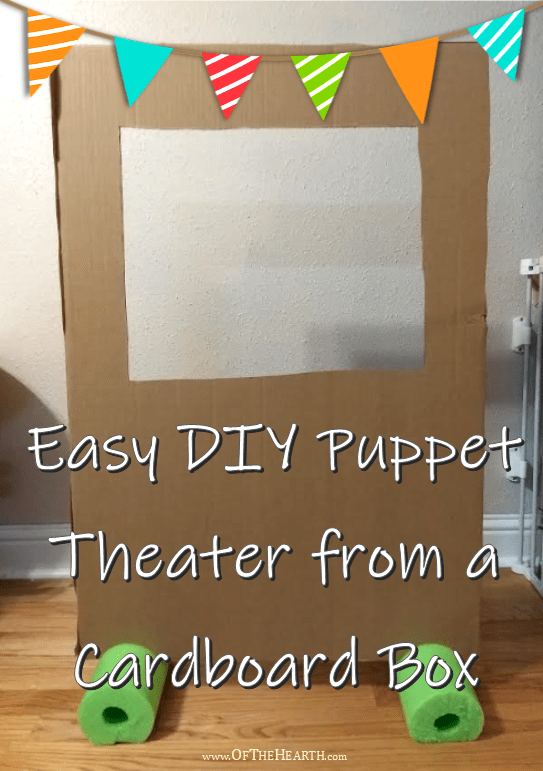 Easy Diy Puppet Theater From A Cardboard Box