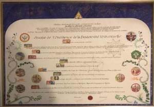 Remise de la Charte OFU à nos Frères de Thiers
