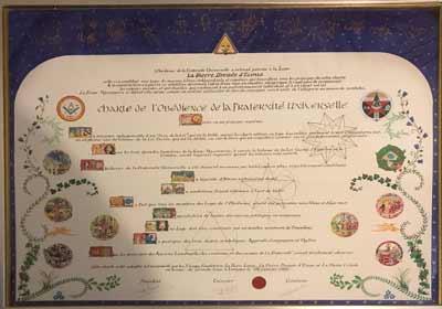 Remise Charte GLEFU : La Montagne Sacrée, Hermine et Chevalier d'Estouteville