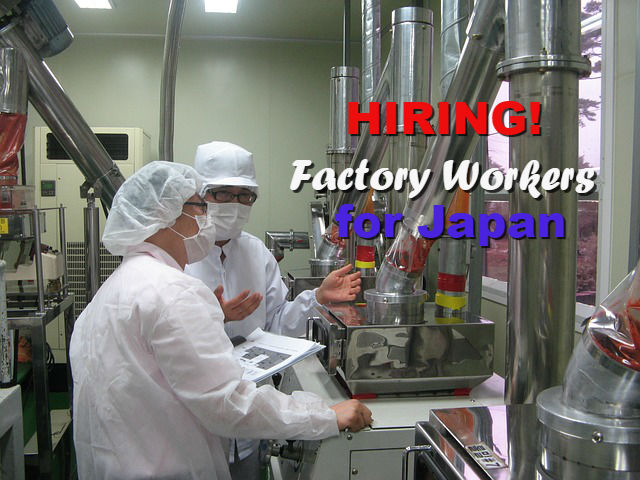 Hiring Factory Workers For Japan Urgent Ofw Help