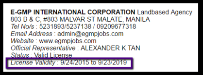 E-GMP_INTERNATIOANAL_CORPORATION_LICENSE_VALIDITY