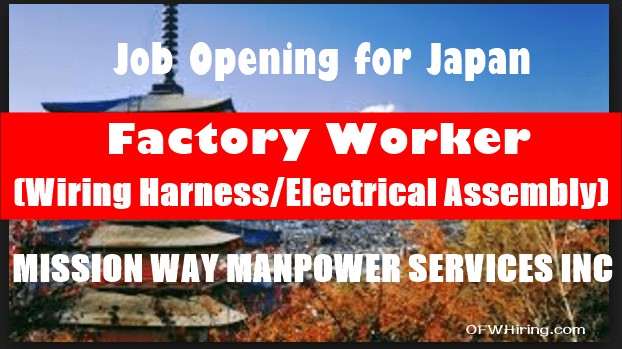 Factory Worker (Wiring Harness/Electrical embly) Job ... on
