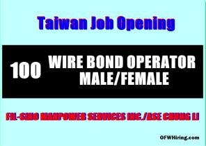 Taiwan-Job-Hiring-WIRE-BOND-OPERATORS