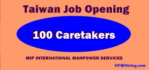 Taiwan-Job-Hiring-for-Caretaker