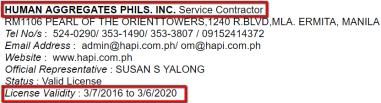 HUMAN_AGGREGATES_PHILIPPINES_INC._License_Validity