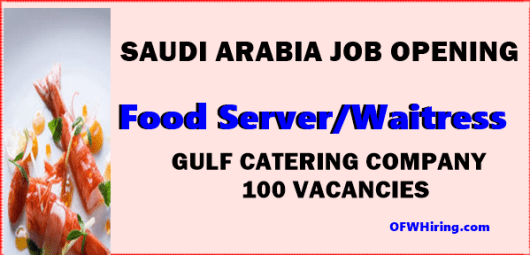 Saudi-Arabia-Job-Hiring-for-Food-Server-and-Waitress