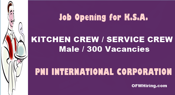 Saudi-Arabia-Job-Opening-for-Kitchen-Crew-and-Service-Crew