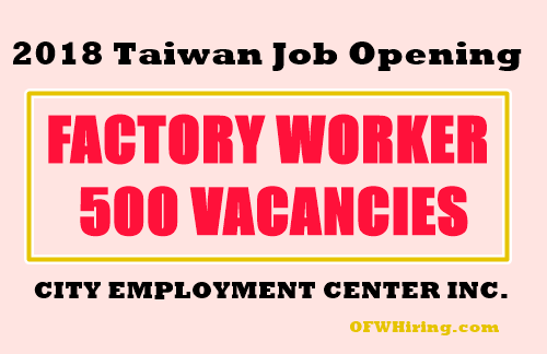 Taiwan-2018-Factory-Worker-Job-Hiring