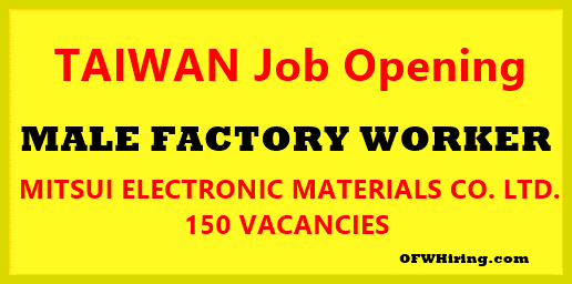 Taiwan-Male-Factory-Worker-Job-Opening-2018