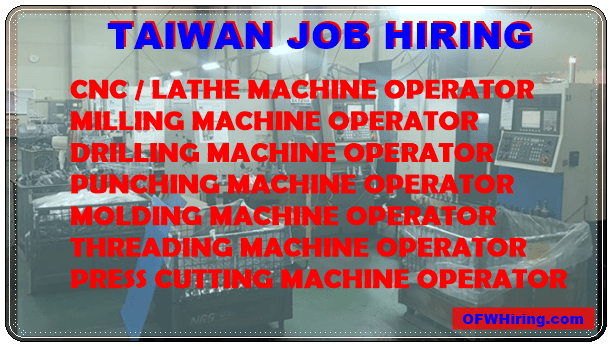Taiwan-Job-Hiring-for-Machinery-Operators