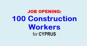 OFW Construction Workers Job Vacancy