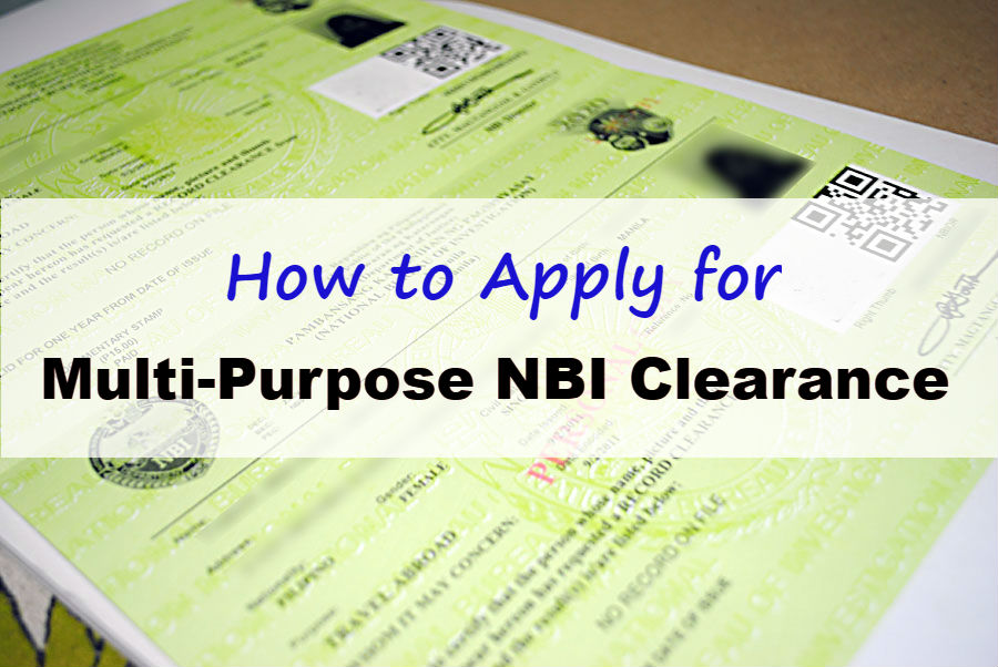 How to Apply for Multi-Purpose NBI Clearance - OFW Job Portal