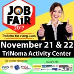 Job Fair 2017 at TriNoma on November 21 & 22