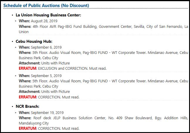 pag ibig public bidding