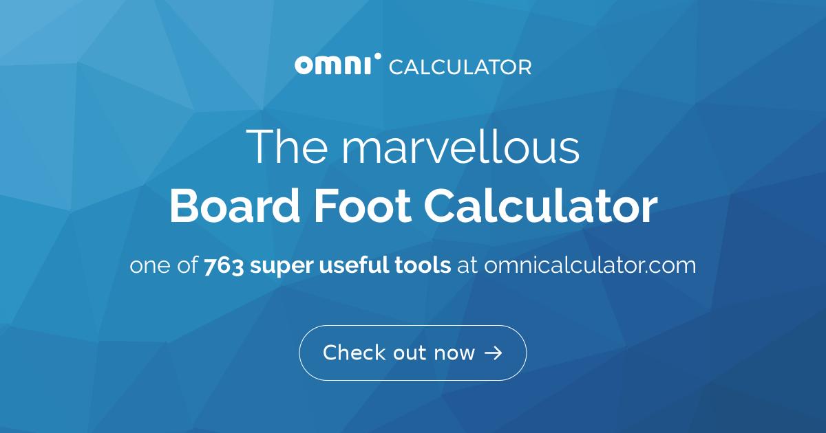 Timber Board Foot Calculator