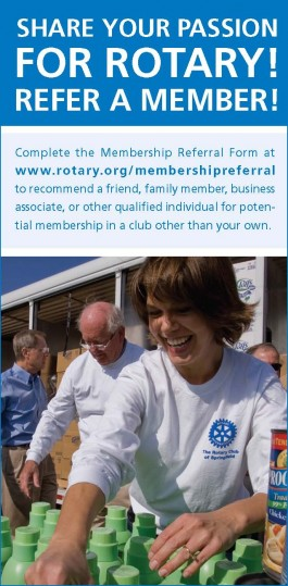 Share your passion for Rotary!  Refer a Member!