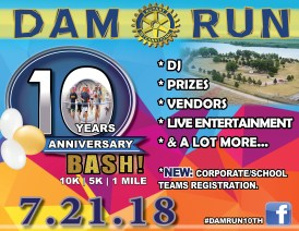 2018 Dam Run 10th Anniversary