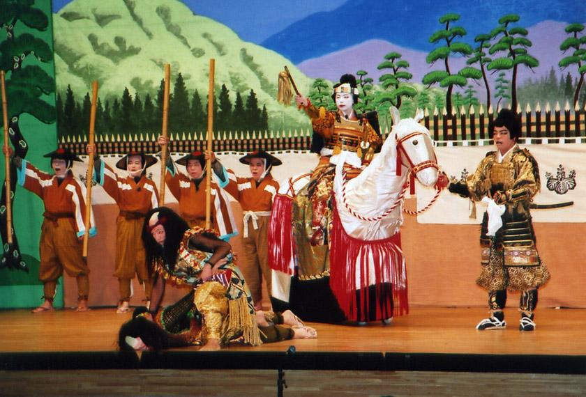 絵本太功記、小鹿野、おがの、OGANO、歌舞伎、歌舞伎サークルうぶ、九段目、明智光秀、真柴久吉、武智光秀、豊臣秀吉
